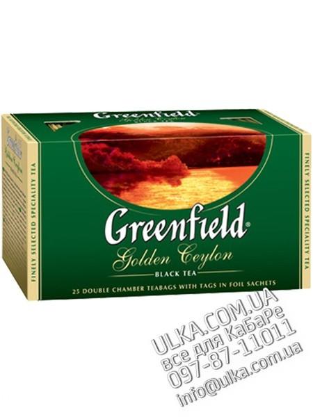 Чай черный Greenfield Golden Ceylon, 100 пакет. Greenfield