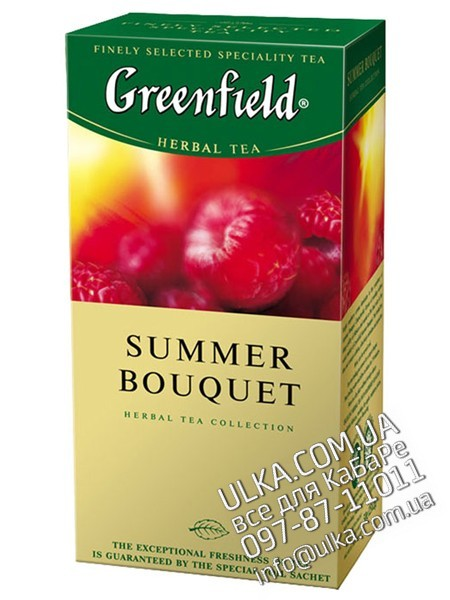 Чай Greenfield Summer Bouquet малина, 25 пакет. Greenfield