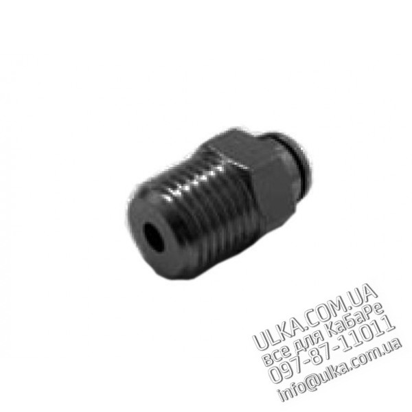 FITTING STRAIGHT ELBOW CONNECTOR 1/8M ?6 Nuova Ricambi