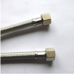STAINLESS STEEL HOSE 3/8F-3/8F cm.120